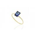 Δαχτυλίδι από χρυσό 14Κ με ζαφείρι