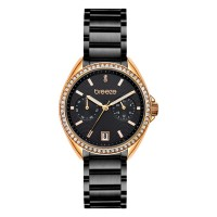 BREEZE Royalisse Crystals Black Stainless Steel Bracelet 812161.6