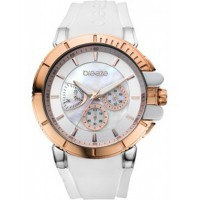 BREEZE 3D Shadow Rose Gold White Silicone Strap 111061.5 Breeze