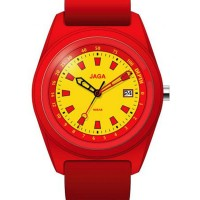 Jaga Depth 701-7 Diving Red Rubber Strap Jaga