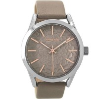 OOZOO Timepieces XL Beige Leather Strap C9473