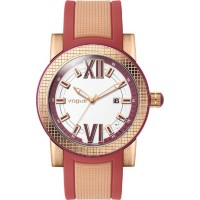 Vogue Fancy Rose Gold Rubber Strap 17301.9 Vogue