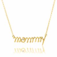 Κολιέ LiLALO Mommy από επιχρυσωμένο ασήμι 925 με ζιργκόν Κολιέ απο Ασήμι