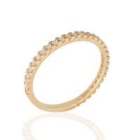 Ολόβερο Δαχτυλίδι 14Κ Ροζ Χρυσό με Ζιργκόν Δαχτυλίδια απο Χρυσό