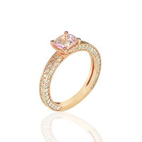 Μονόπετρο Δαχτυλίδι 14Κ Ροζ Χρυσό με Ζιργκόν Δαχτυλίδια απο Ροζ Χρυσό