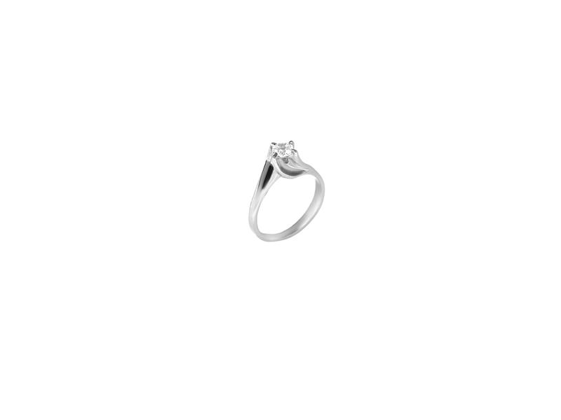 Μονόπετρο Δαχτυλίδι 14Κ Λευκόχρυσο με Ζιργκόν Δαχτυλίδια απο Λευκόχρυσο 0aed3863376